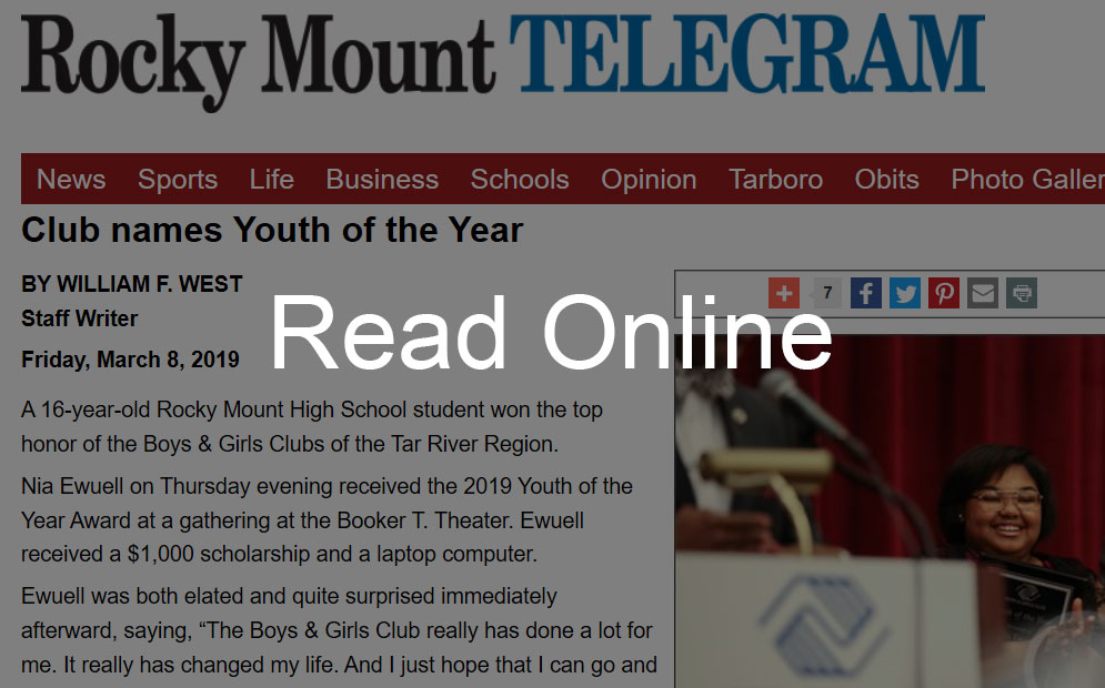 Club Names Youth of the Year