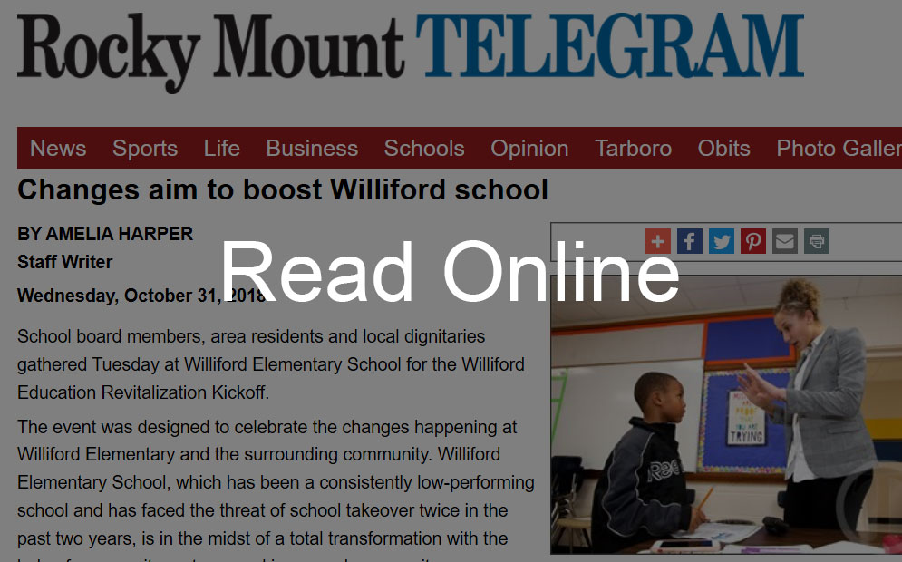 Changes Aim to Boost Williford School